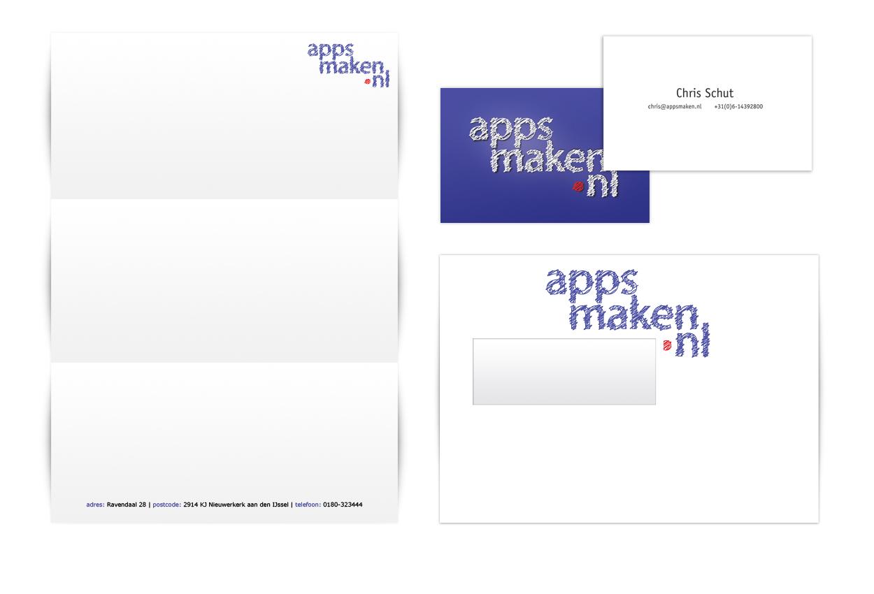 Huisstijl Appsmaken ontworpen door StudioGM2
