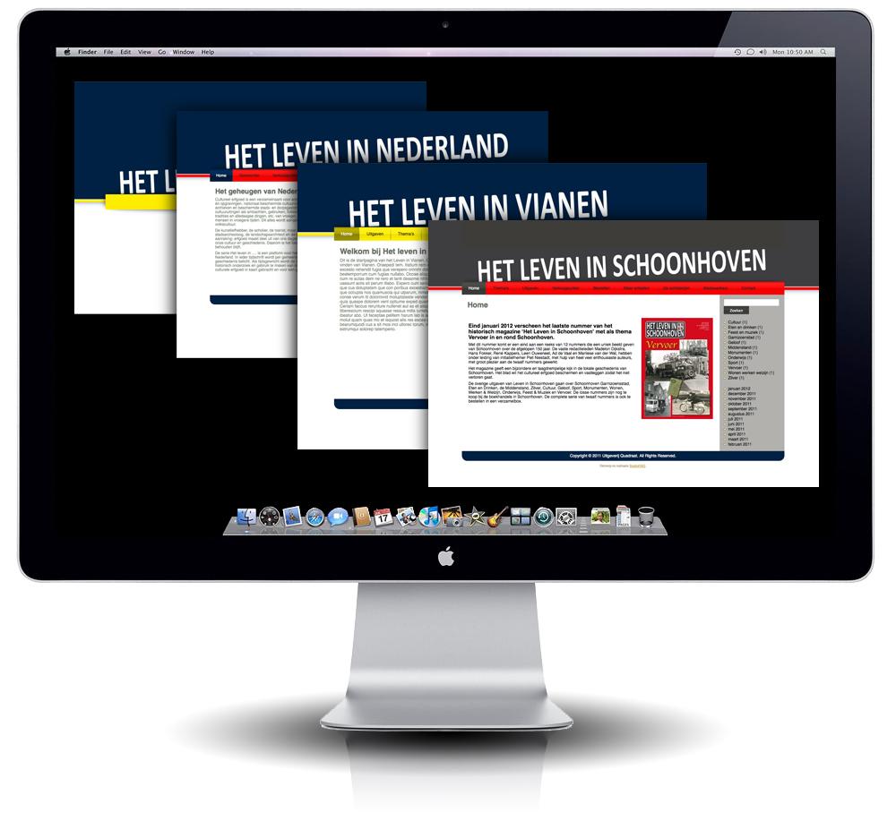 Het Leven in Nederland interfaces door StudioGM2