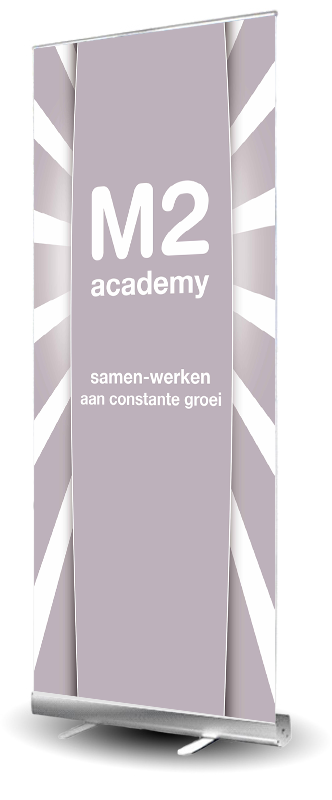 Roll-up banner van M2 Tandartsen