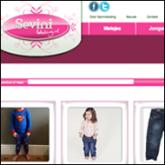Interface ontwerp van de webshop van Sevinikleding